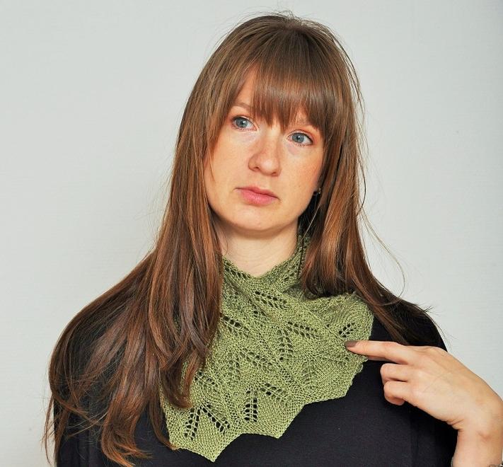 ESTER sjal - krage stickas med SILLA